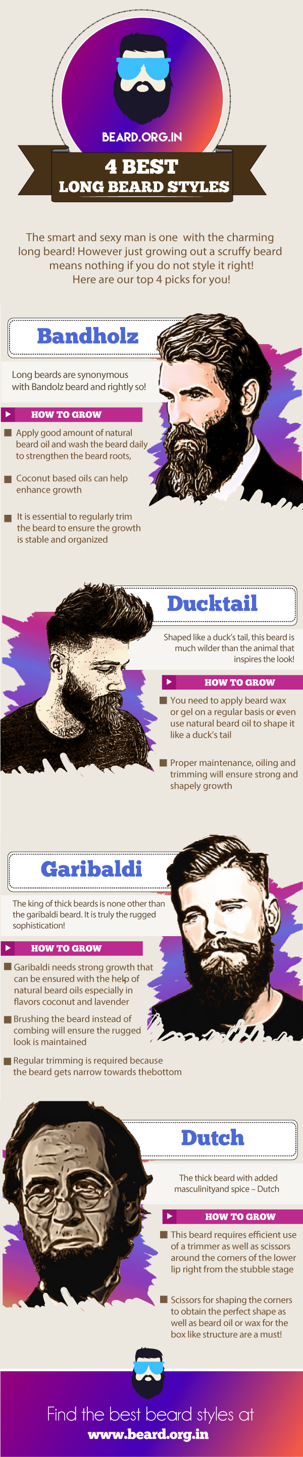 4 best long beard styles for men 2017