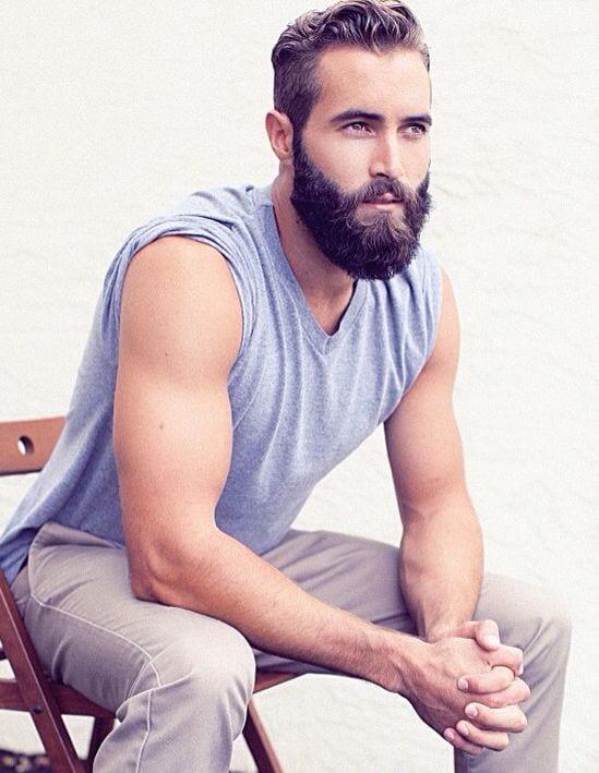 Mascular man with a beard