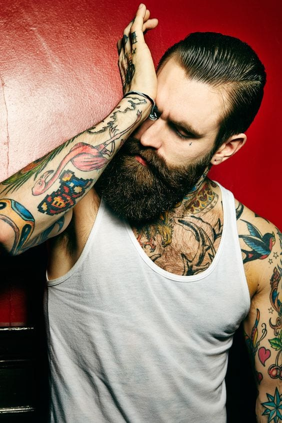 Beard beast with Tattoo all over