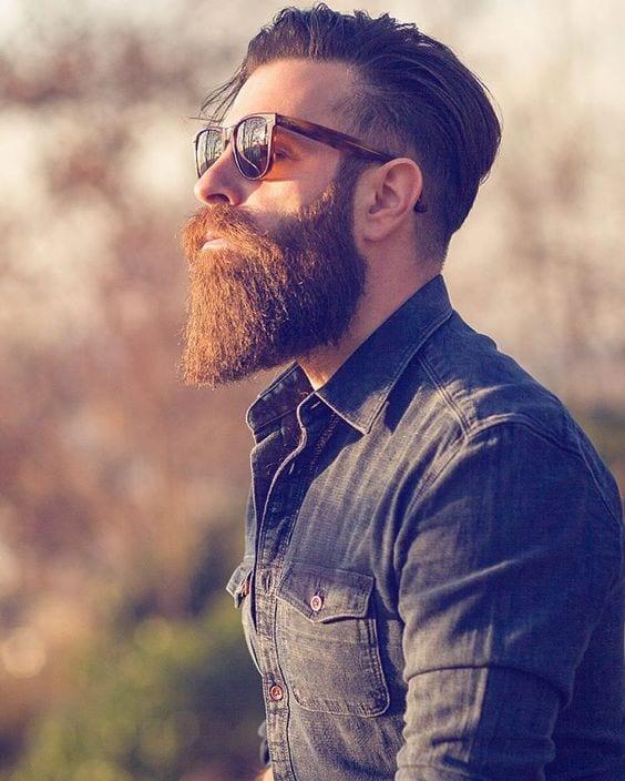 bearded man with sunglasses