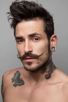 Apply Moustache Wax daily