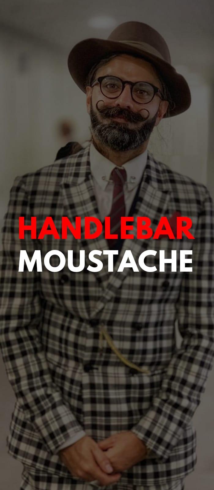 Handlebar Moustache For Men.