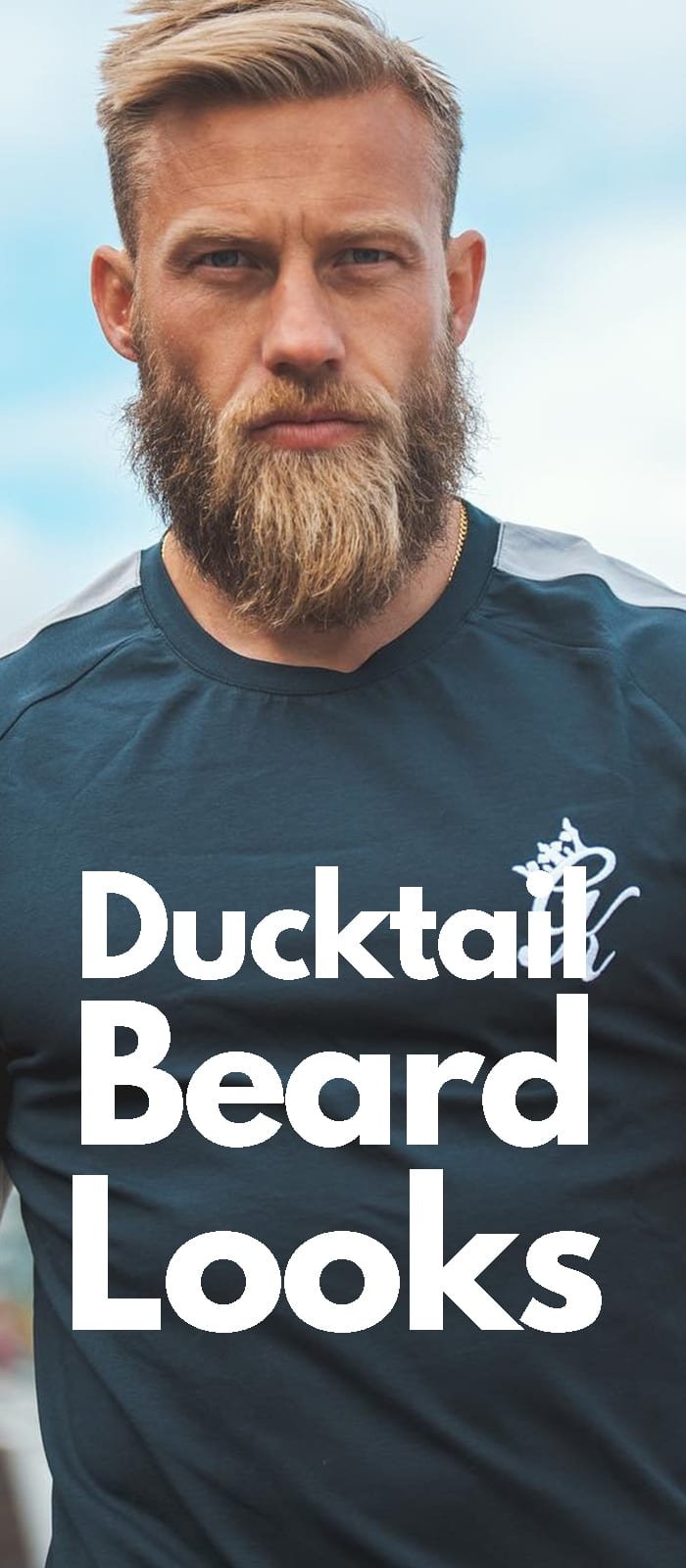 Ducktail Beard Look.