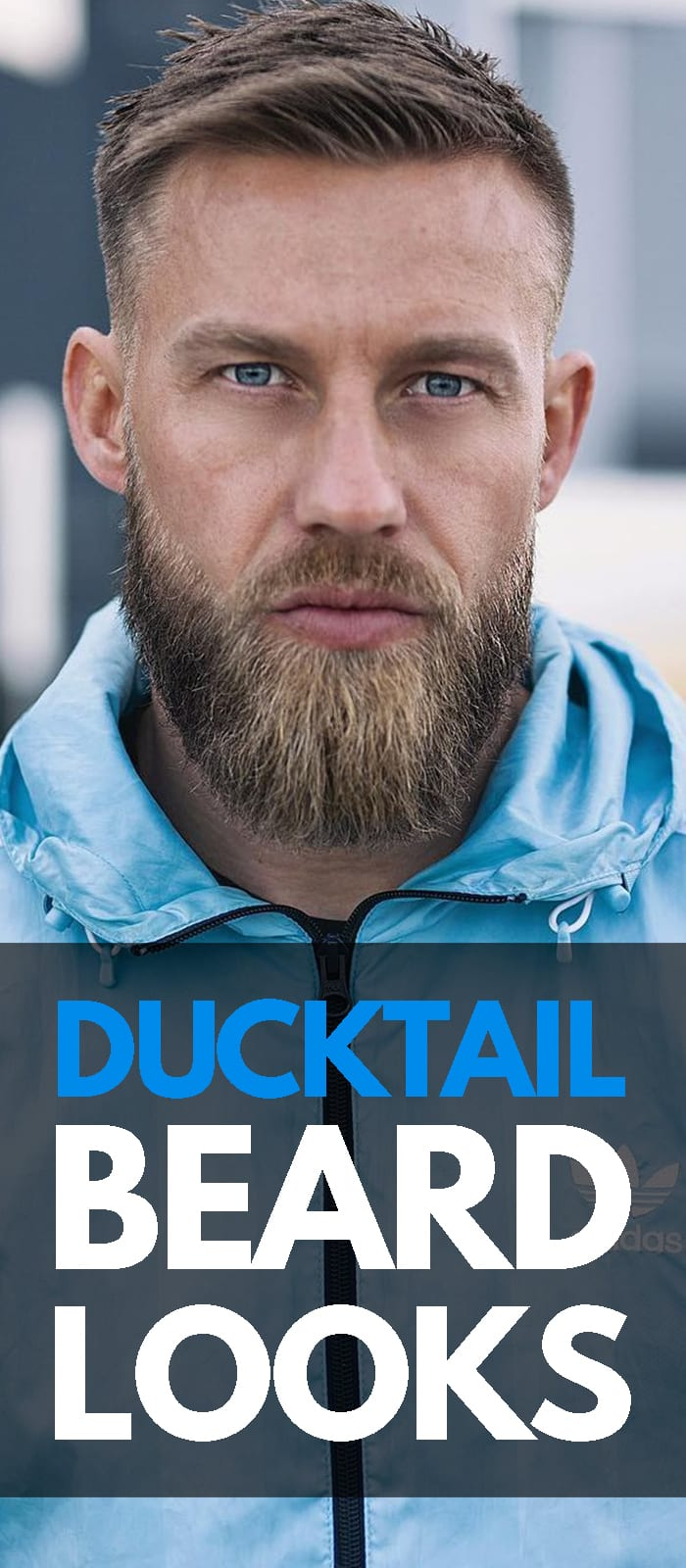 Ducktail Beard Look