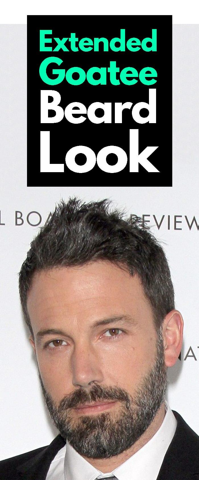 Extended Goatee Beard Look.