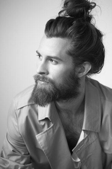 man-bun-with-ducktail-beard
