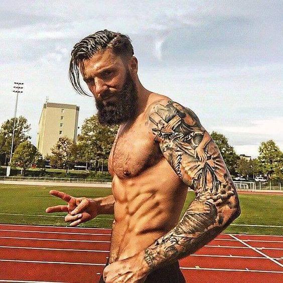 Man with perfect beard & Tattoo