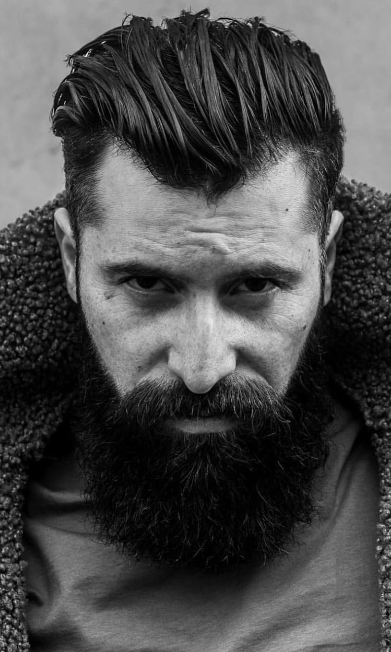 Beard And Hairstyle Combination