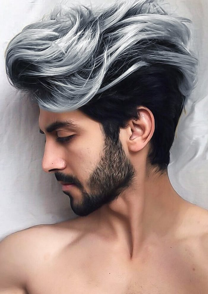Beard Men Should Try To Compliment Combed Back Hairstyle!