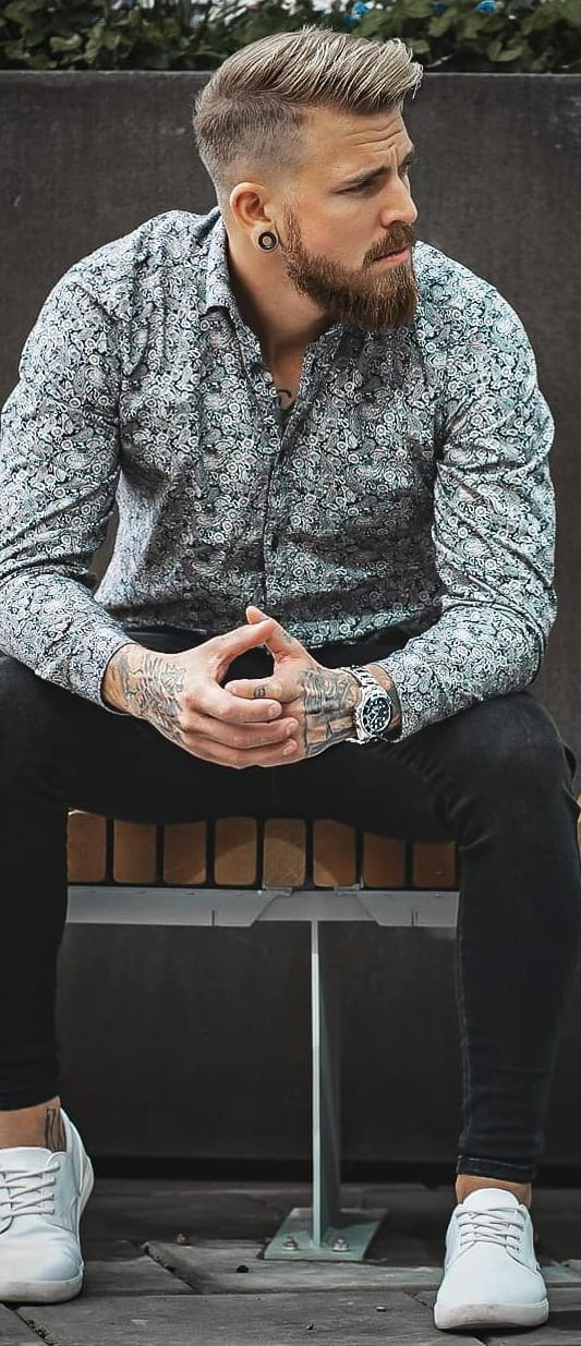 Beard Styles Men Should Try To Compliment Combed Back Hairstyle.