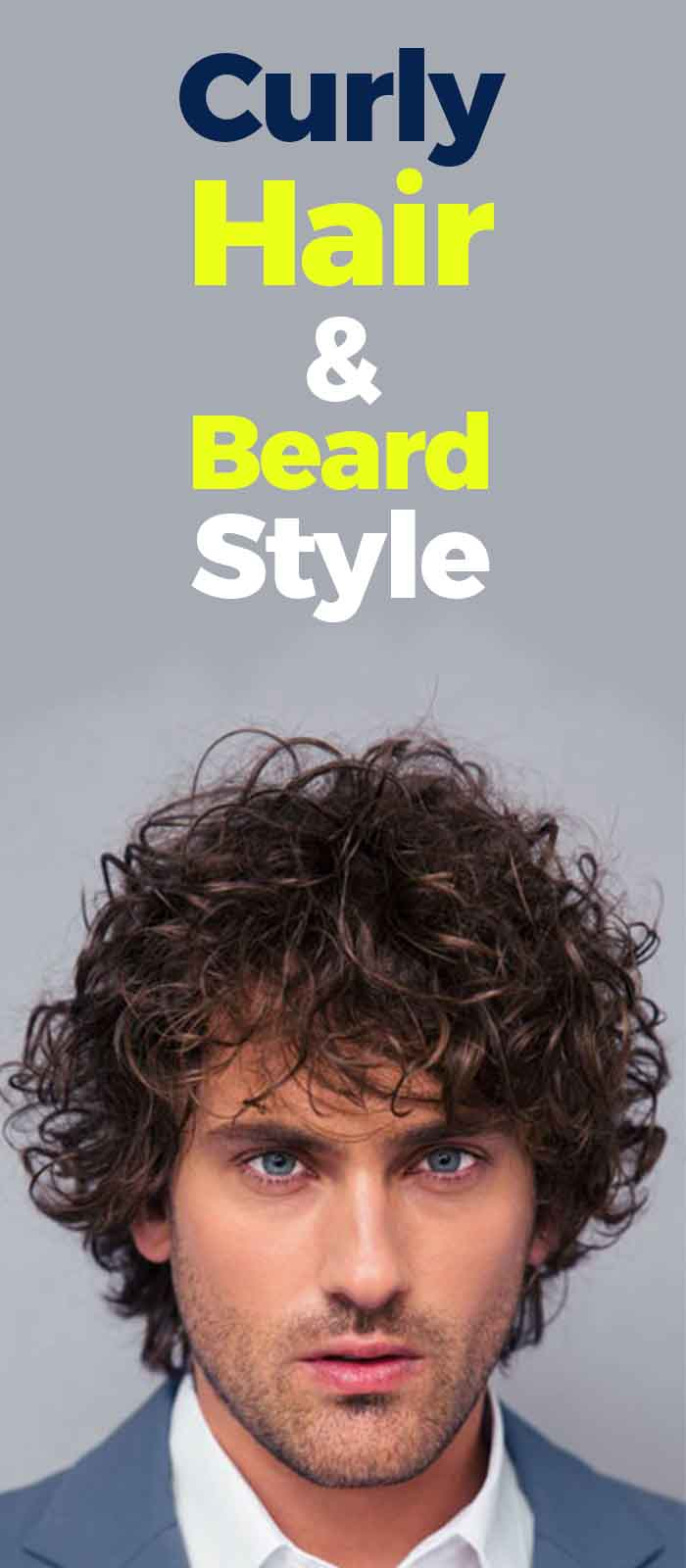 Best Curly Hairstyle With Beard ideas for men!