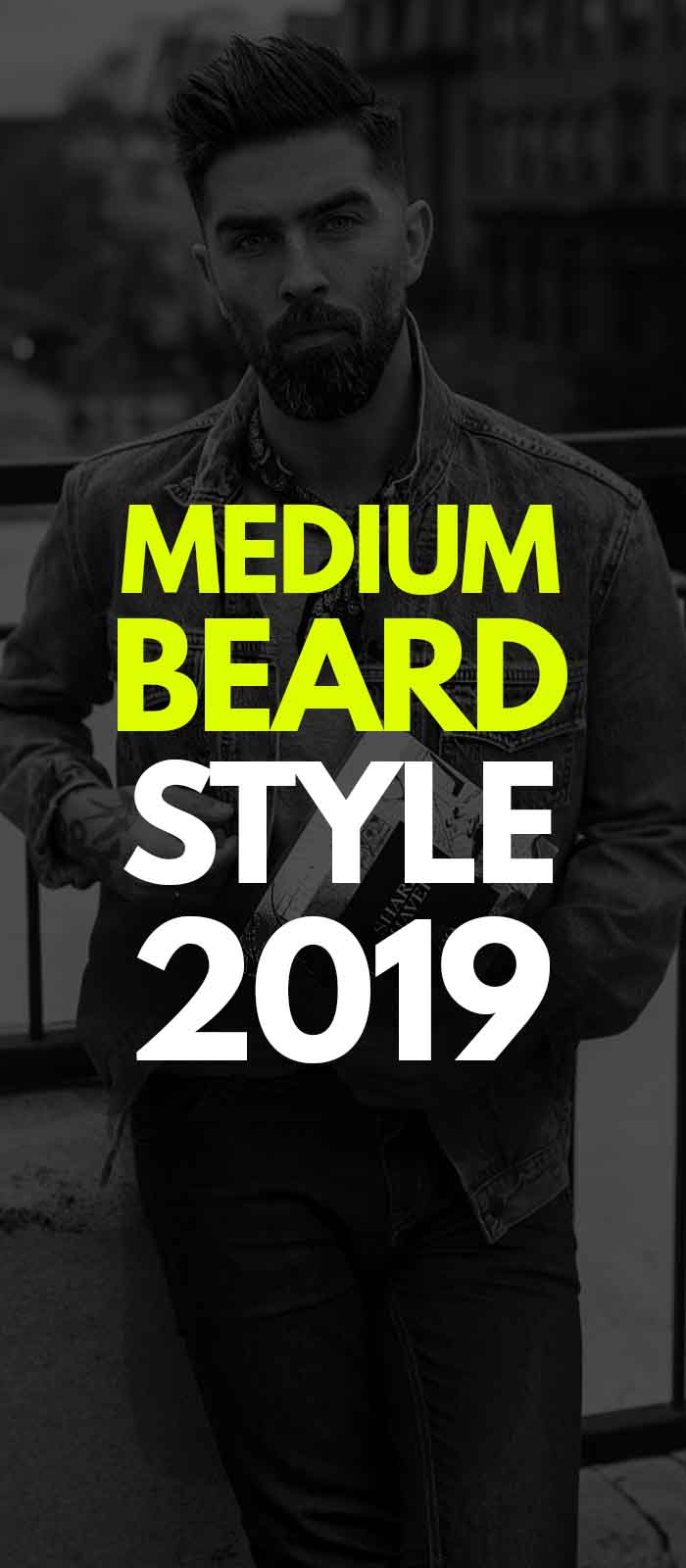 Black Dark Medium Beard Style for men!