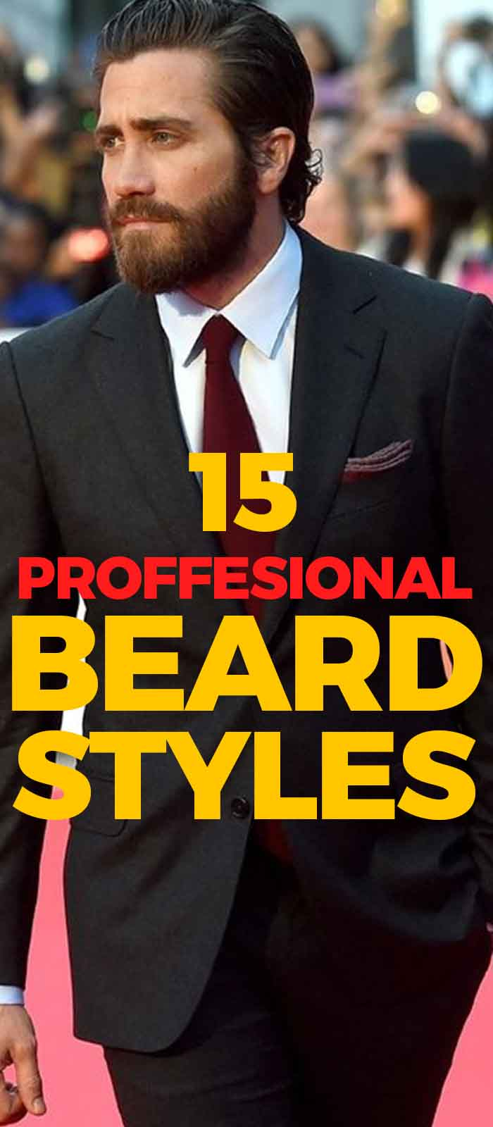 Black Suit Professional Beard for men!