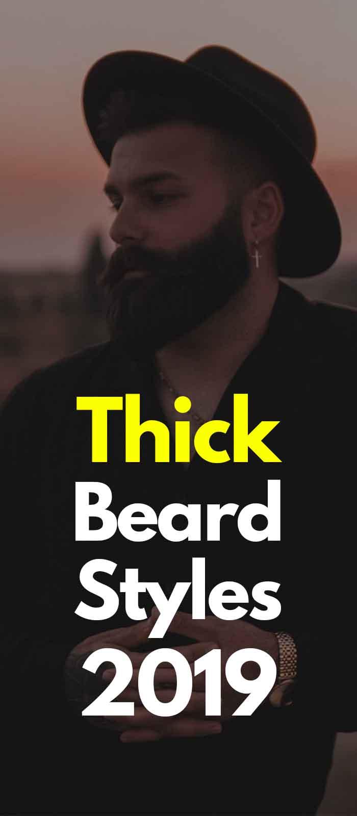Black dark thick beard style for men!
