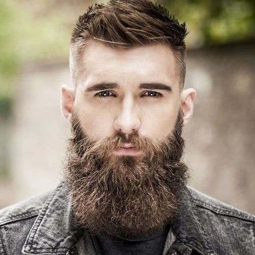 Brown Garibaldi Beard style with Sexy Mustache look for men