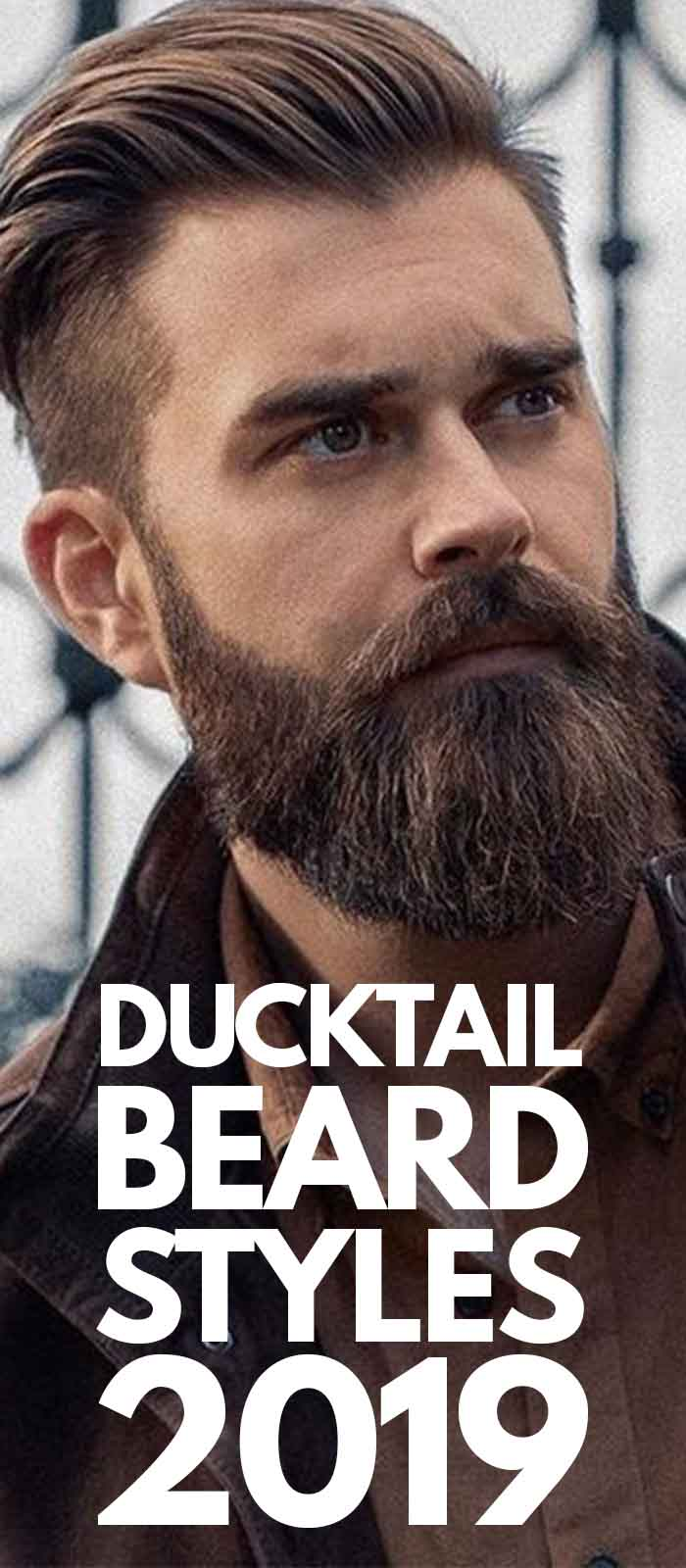 Brown Jacket Ducktail Beard!