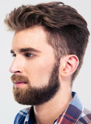 Bushy Sideburn with beard