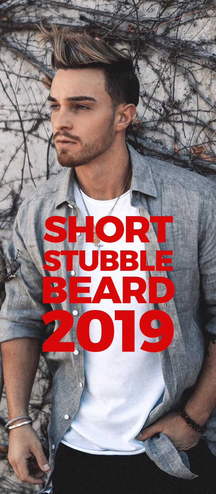 Cool and Young Short Stubble beard style for men!