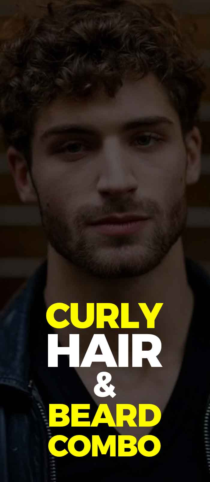 Curly hair with beard for men to try!