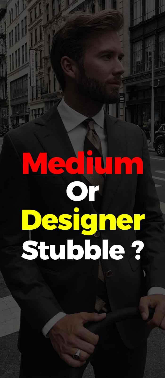 Designer stubble beard style for men!