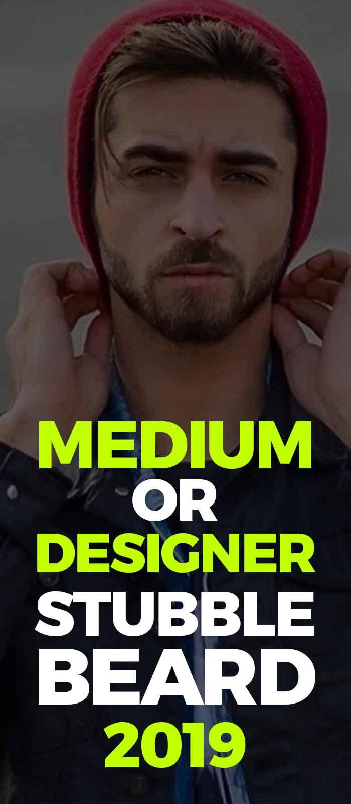 Designer stubble beard,beanie look for men!
