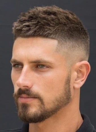 Fade Haircut with short Beard ideas for men