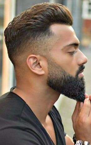Fade with long beard for men