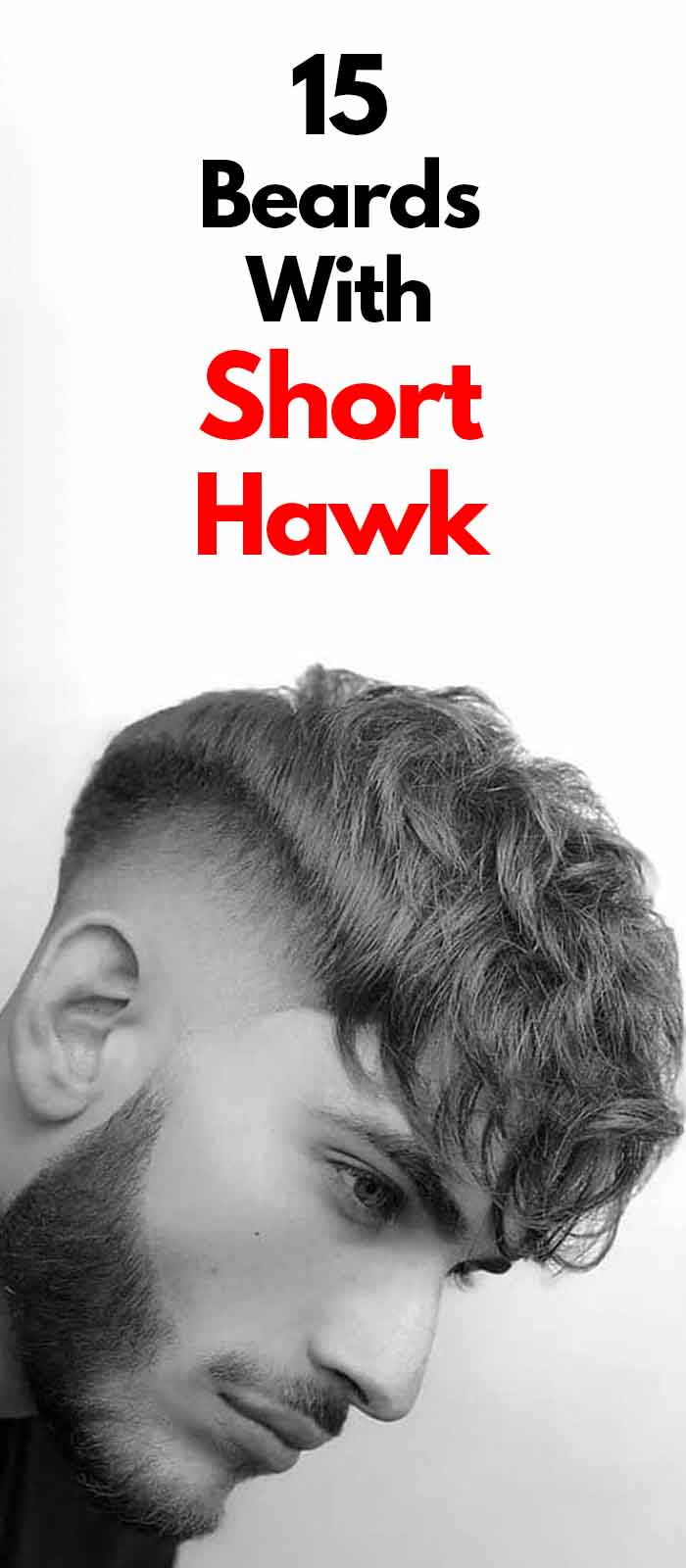 Faux Hawk Fade with Beard for men!