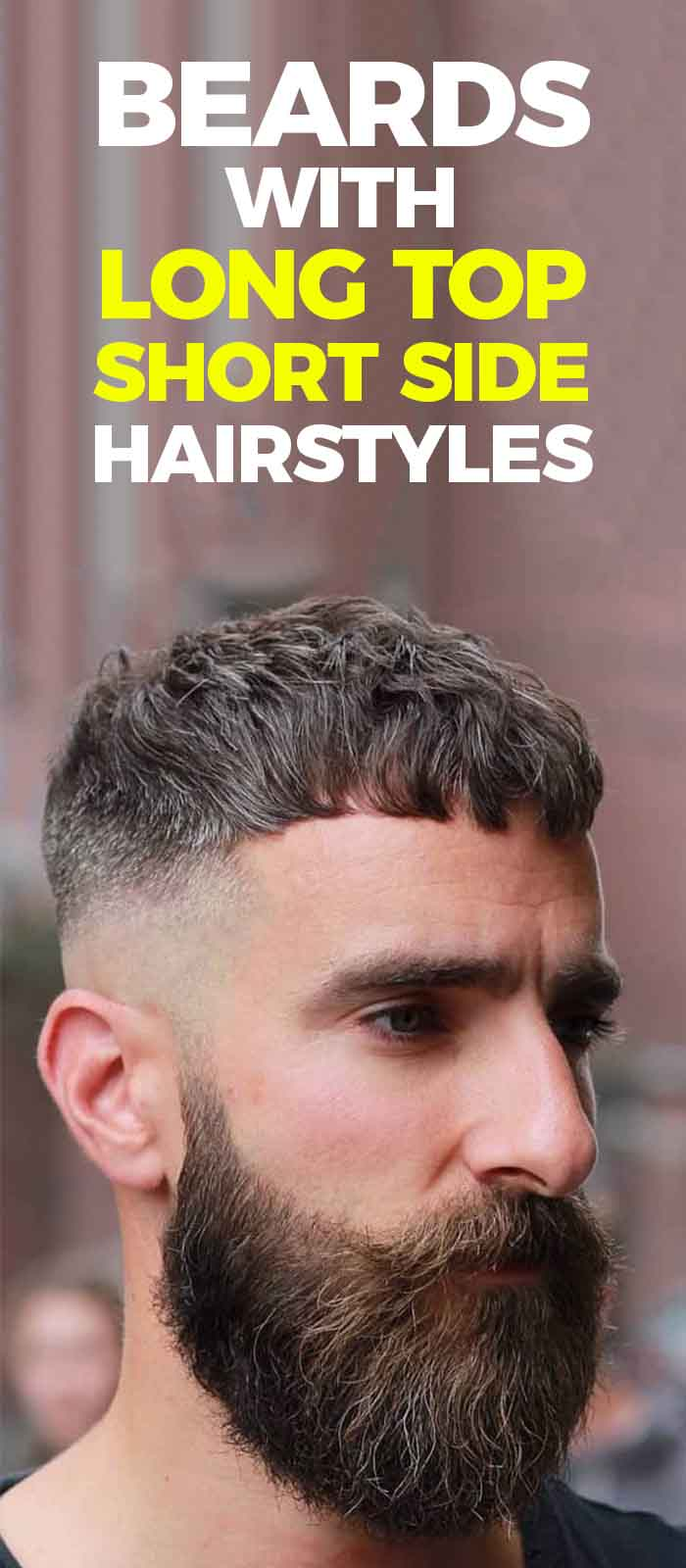 French-Crop-Beard with-Skin-Fade short hairstyle for men!