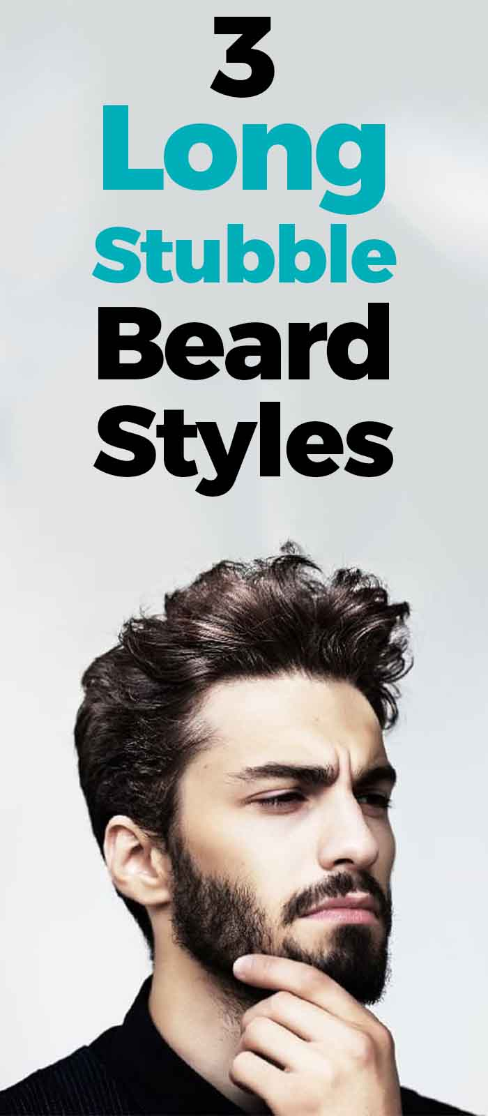 Full Stubble beard style for men!