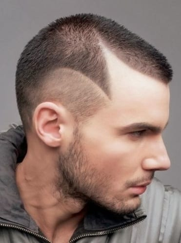 Funky Haircut For men with Beard