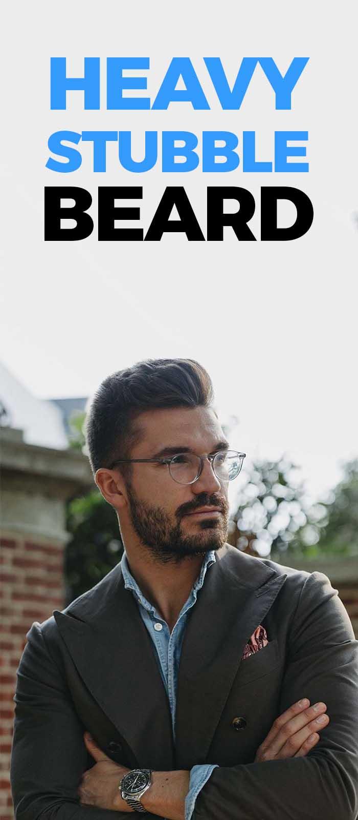 Heavy Stubble Beard.