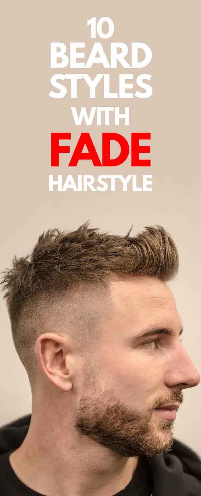 High Skin Fade haircut with short beard for men!