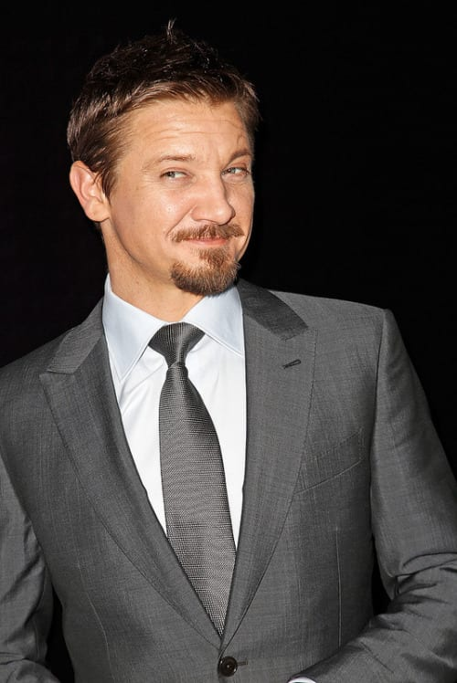 Jeremy renner signature van dyke bearded men celebs