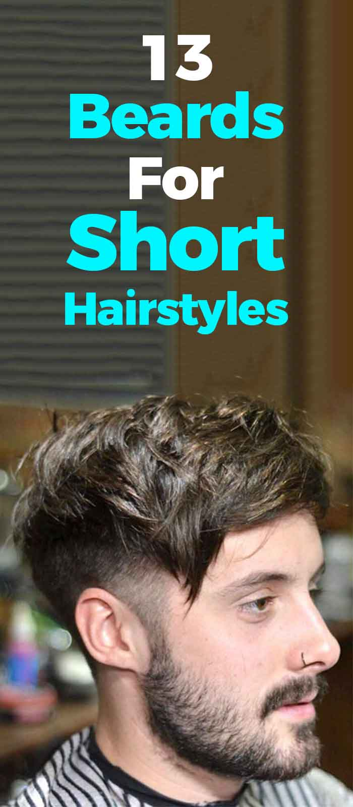 Long top Short Sides hairstyle with beard for men!