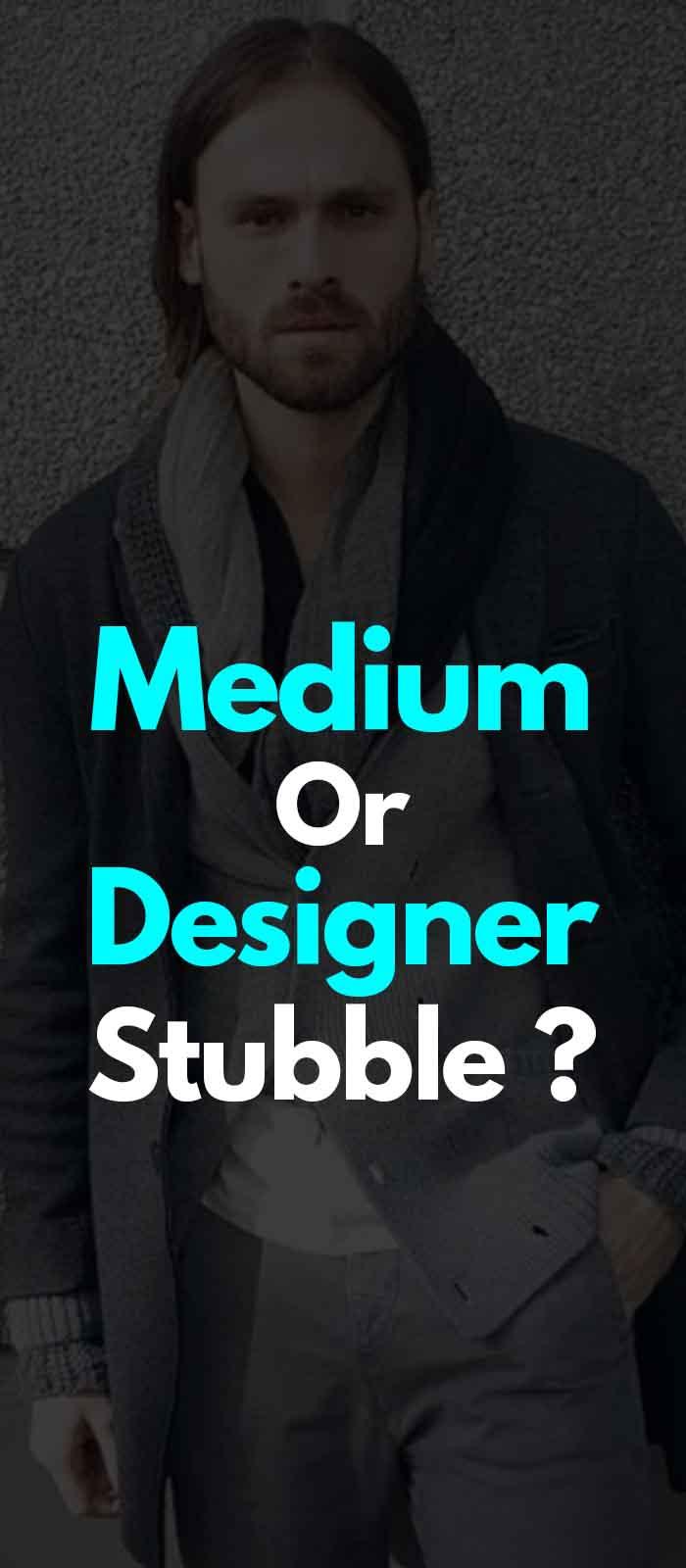 Medium Stubble beard styles!