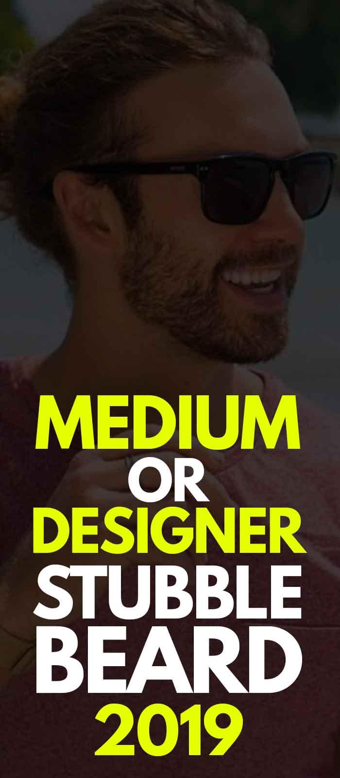 Medium stubble style for men!