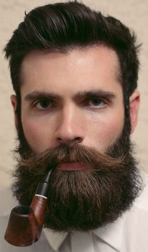 Natural Full Balbo Beard And Shaped Mustaches