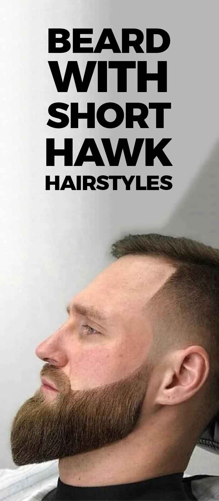Perfect Combination of Short Faux Hawk Hairstyle with beard!