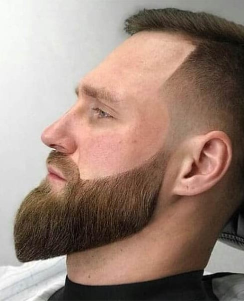 Perfect Combination of Short Faux Hawk Hairstyle with beard