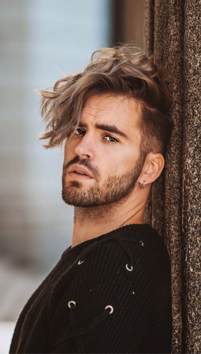 Perfect Combination of Short Side Long hair with beard