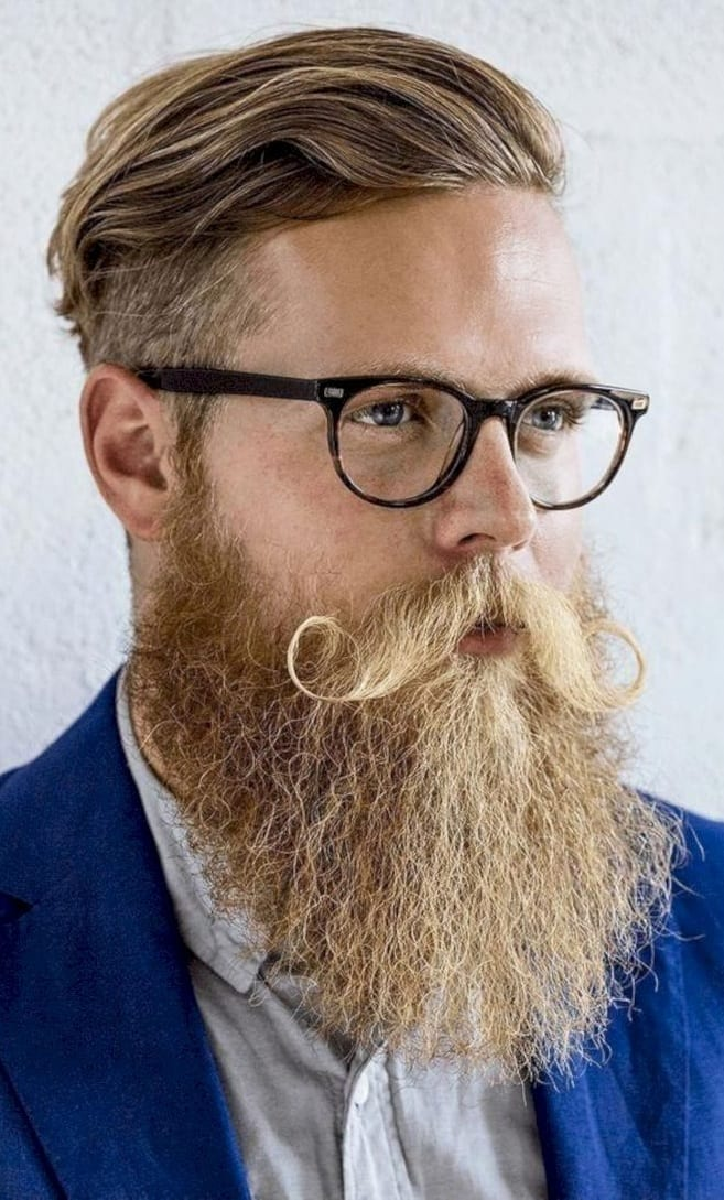 Perfect Hairstyle and Aggressive Beard Combination for men