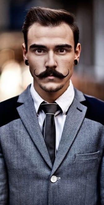 Perfect Vintage Handlebar Moustache