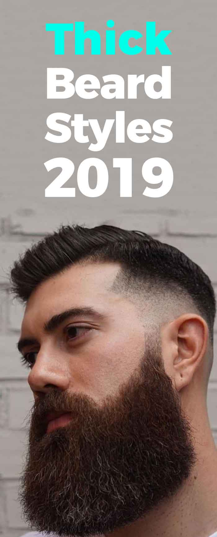 Popular thick beard style for men!
