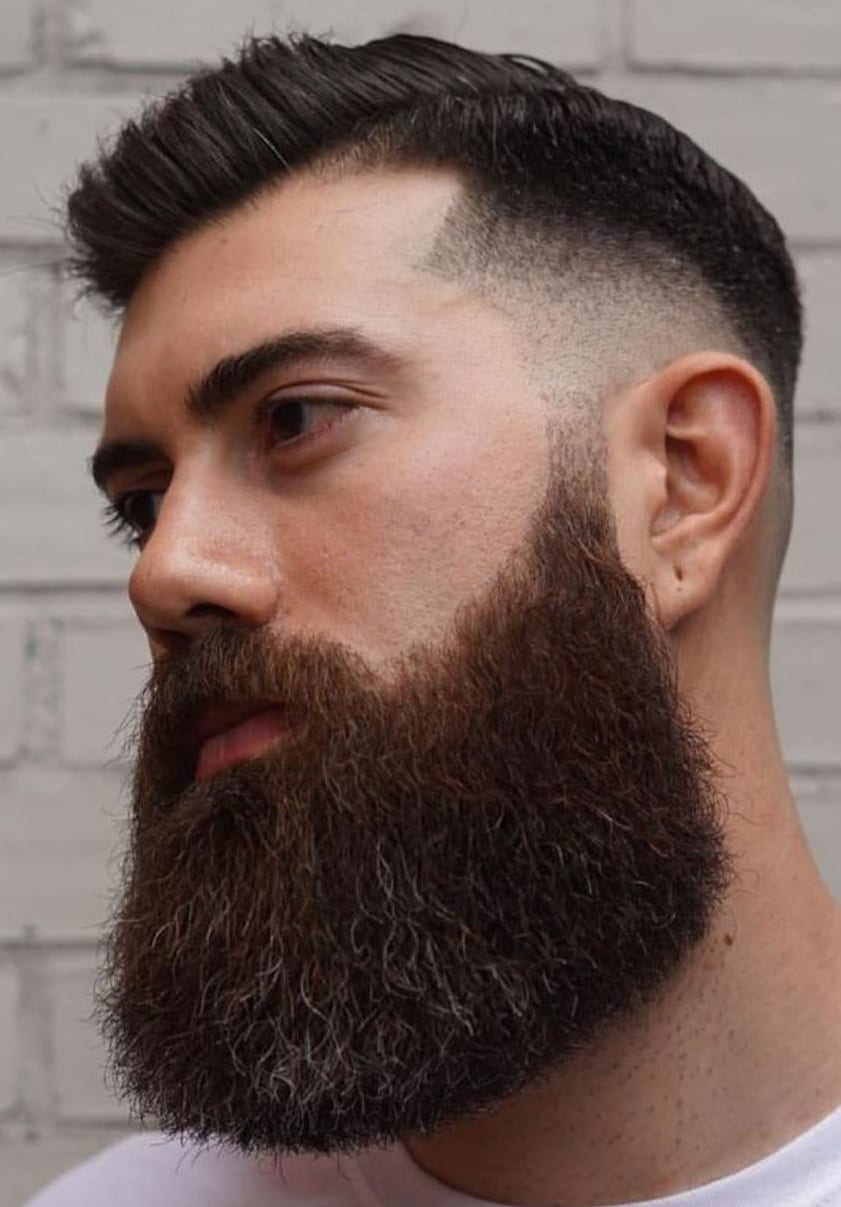 Popular thick beard style for men