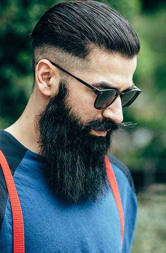 Sexy Bandholz Beard Style with mustache for men