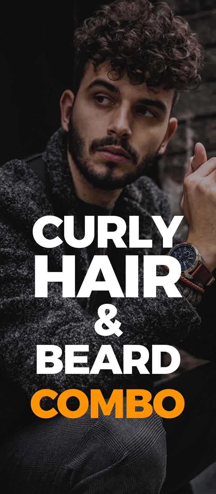 Short Beard with Curly hair lookfor men to try!