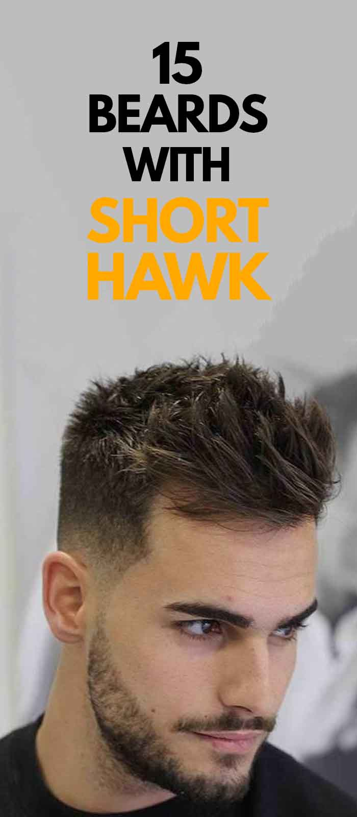 Short Faux Hawk hairstyle and beard for men!