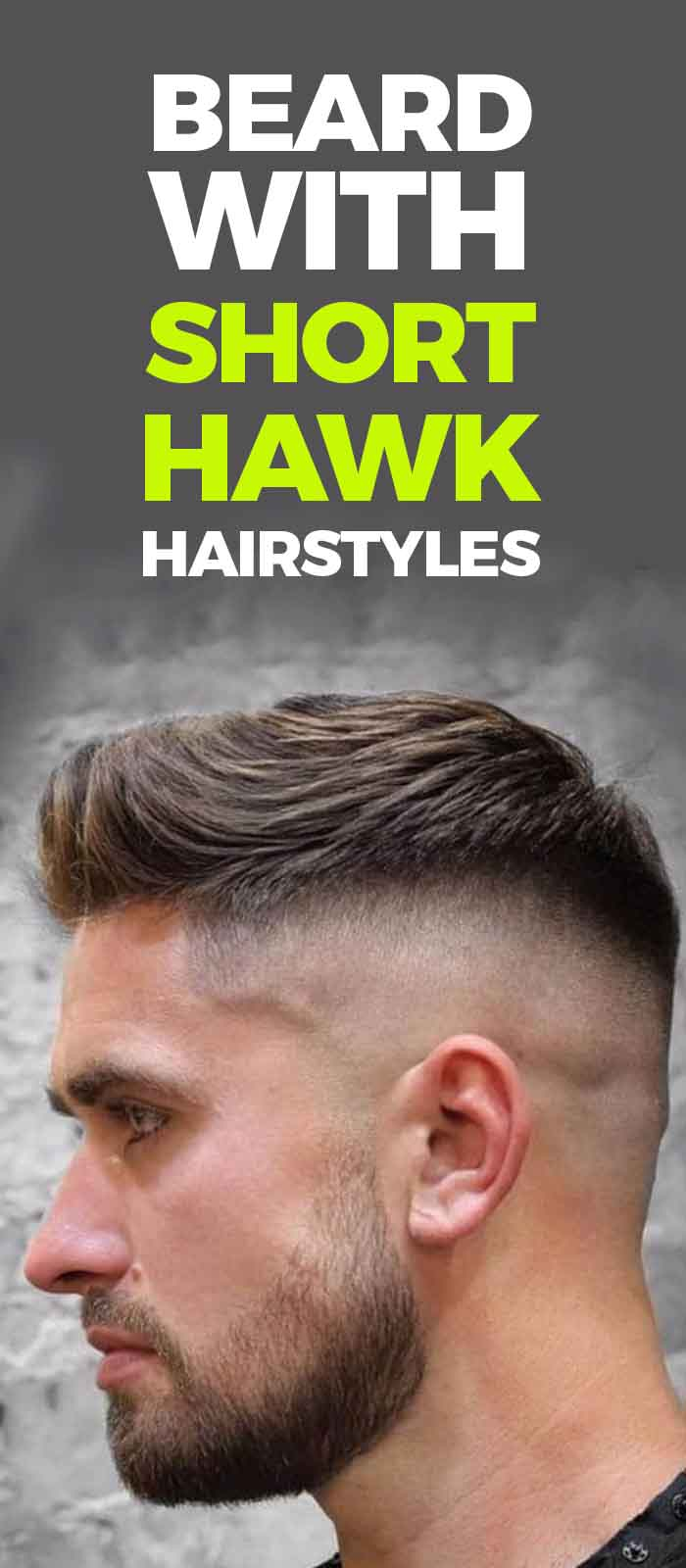 Short Faux With Fade and Beard look for men!