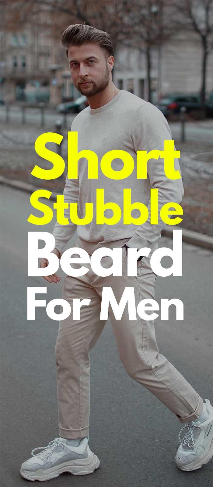 Short Stubble beard for men!